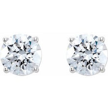 Load image into Gallery viewer, Round 4-Prong Lab-Grown Diamond Stud Earrings