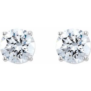 Round 4-Prong Lab-Grown Diamond Stud Earrings