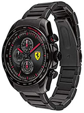 Load image into Gallery viewer, Ferrari Men's SPEEDRACER Quartz Watch with Stainless Steel Strap, Black, 22 Model: 0830654