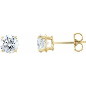 14K Yellow 2 CTW Lab-Grown Diamond Stud Earrings