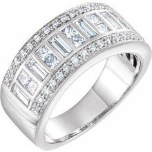 Load image into Gallery viewer, 14K White 1 1/4 CTW Diamond Anniversary Band