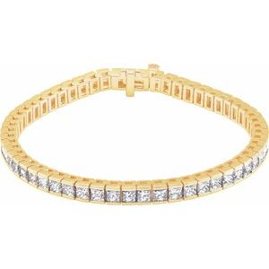 "18K Yellow 9 CTW Diamond Line 7.25"" Bracelet"