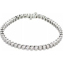 "Load image into Gallery viewer, 14K White 3 CTW Diamond Line 7.25"" Bracelet"