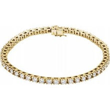 "Load image into Gallery viewer, 14K Yellow 5 CTW Lab-Grown Diamond Line 7 1/4"" Bracelet"