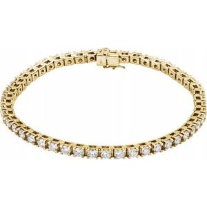 "14K Yellow 5 CTW Lab-Grown Diamond Line 7 1/4"" Bracelet"
