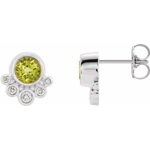 Accented Bezel-Set Earrings