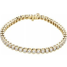 "Load image into Gallery viewer, 14K Yellow 6 CTW Diamond Line 7.25"" Bracelet"