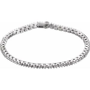 "14K White 2 1/8 CTW Diamond Line 7"" Bracelet"