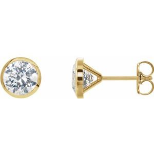 14K Yellow 1 1/2 CTW Diamond Cocktail-Style Earrings