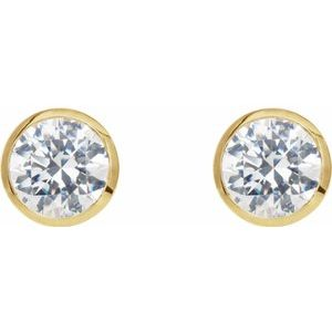 Round Bezel-Set Cocktail-Style Earrings