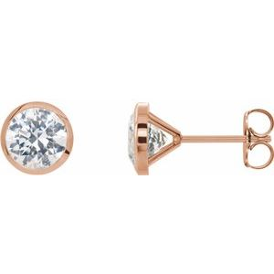 14K Rose 1 CTW Diamond Cocktail-Style Earrings