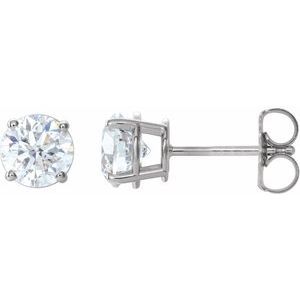 14K White 1 1/2 CTW Diamond Earrings