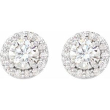 Load image into Gallery viewer, Sterling Silver 1 1/6 CTW Diamond Earrings