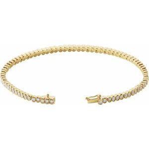 "14K Yellow 2 CTW Diamond Line 7"" Bracelet"