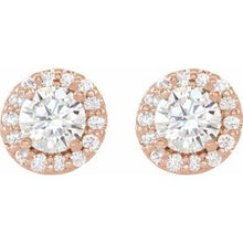 Load image into Gallery viewer, 14K Rose 2 CTW Diamond Earrings