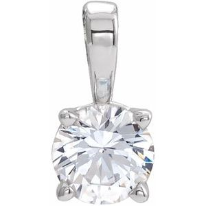 Platinum 7/8 CT Diamond Birthstone Pendant