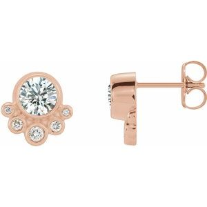 14K Rose 5/8 CTW Diamond Earrings