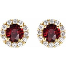 Load image into Gallery viewer, 14K Yellow Ruby & 1/3 CTW Diamond Earrings