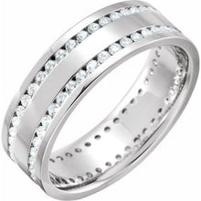 Load image into Gallery viewer, Platinum 1 CTW Diamond Flat Band Size 5