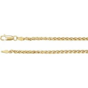 2.75 mm Wheat Diamond Cut Chain