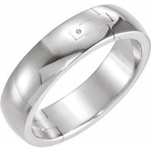 Load image into Gallery viewer, Platinum 6 mm Adjustable Band Size 8.5
