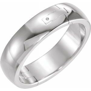 Platinum 6 mm Adjustable Band Size 8.5