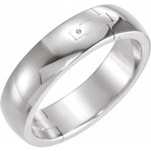 Platinum 8 mm Adjustable Band Size 6