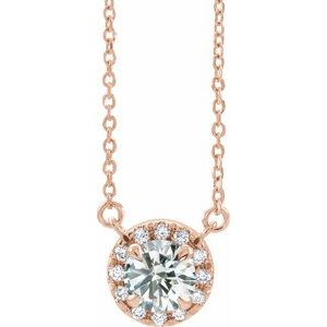 14K Rose 9/10 CTW Diamond 18