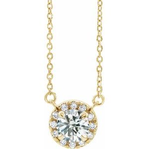 "14K Yellow 1 CTW Lab-Grown Diamond French-Set 16-18"" Necklace"