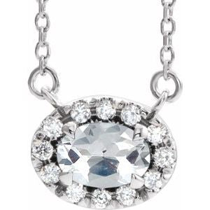 "Sterling Silver 9/10 CTW Diamond 18"" Necklace"