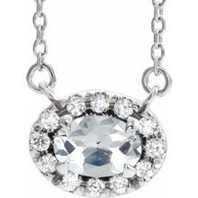 "Load image into Gallery viewer, 14K White 9/10 CTW Diamond 16"" Necklace"
