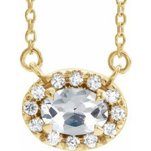 "Load image into Gallery viewer, 14K Yellow 9/10 CTW Diamond 18"" Necklace"
