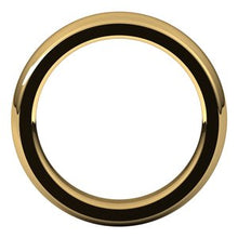 Load image into Gallery viewer, 24K Yellow 5 mm Half Round Comfort Fit Heavy Band Size 8