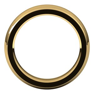 24K Yellow 5 mm Half Round Comfort Fit Heavy Band Size 8