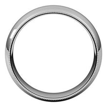 Load image into Gallery viewer, Palladium 7 mm Milgrain Half Round Comfort Fit Band Size 12.5