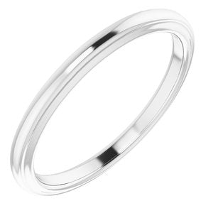 Sterling Silver Band for 9.4 mm Round Ring