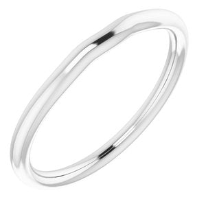 Sterling Silver Band for 6x4 mm Oval Ring