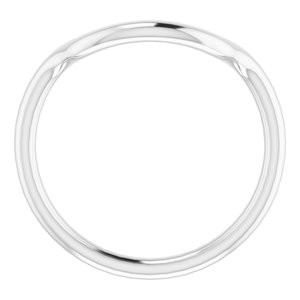 Sterling Silver Band for 14 mm Cushion Ring