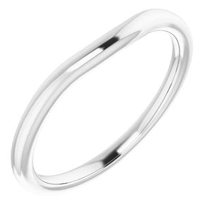 Sterling Silver Band for 4 mm Square Ring