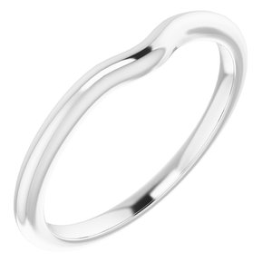 Sterling Silver Band for 5.2 mm Round Ring