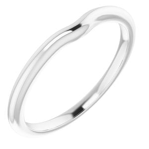 Sterling Silver Band for 4.4 mm Round Ring
