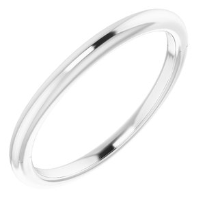 Sterling Silver Band for 5x3 mm Emerald Ring