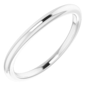Sterling Silver Band for 8x6 mm Emerald Ring