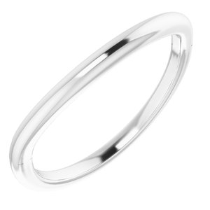 Sterling Silver Band for 14x10 mm Emerald Ring