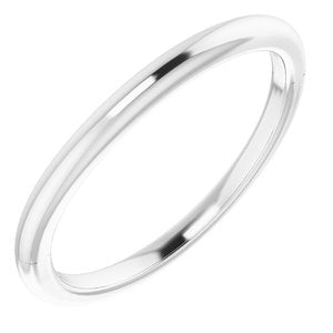 Sterling Silver Band for 6 mm Square Ring