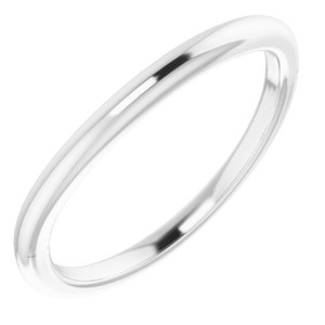 Sterling Silver Band for 9 mm Square Ring