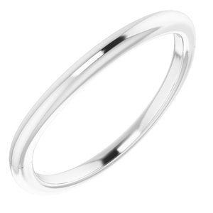Sterling Silver Band for 10 mm Square Ring