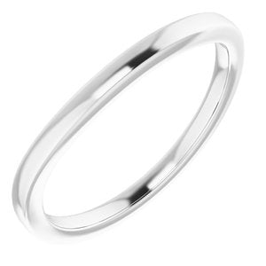 Sterling Silver Band for 5 mm Square Ring