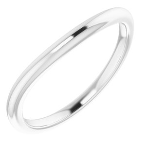 Sterling Silver Band for 5x3 mm Oval Ring