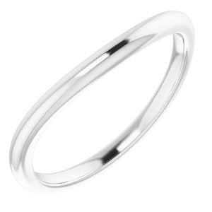 Sterling Silver Band for 7x3.5 mm Marquise Ring